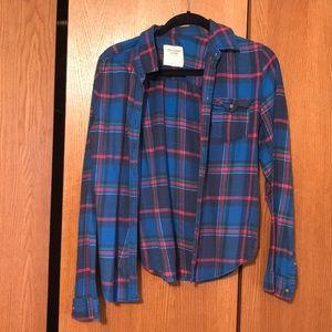 A&F flannel size L